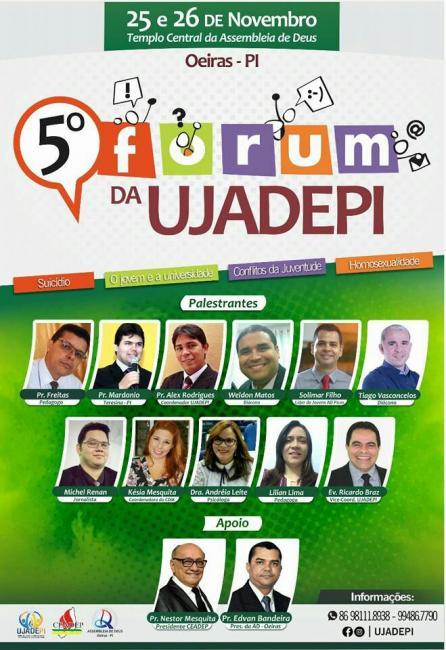 ♻ 5° Forum da UJADEPI