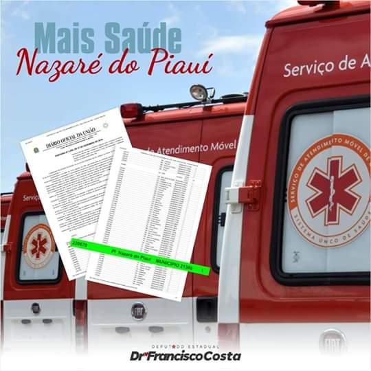 Prefeito agradeceu a implantação do SAMU no município de Nazaré