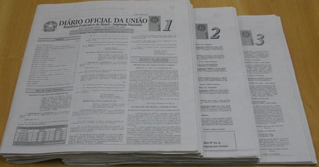 'Diário Oficial' publica exoneração de servidores comissionados