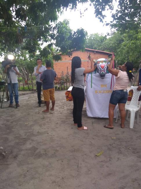 Equipe da Globo Piauí grava programa especial sobre Reisado em Boa Hora