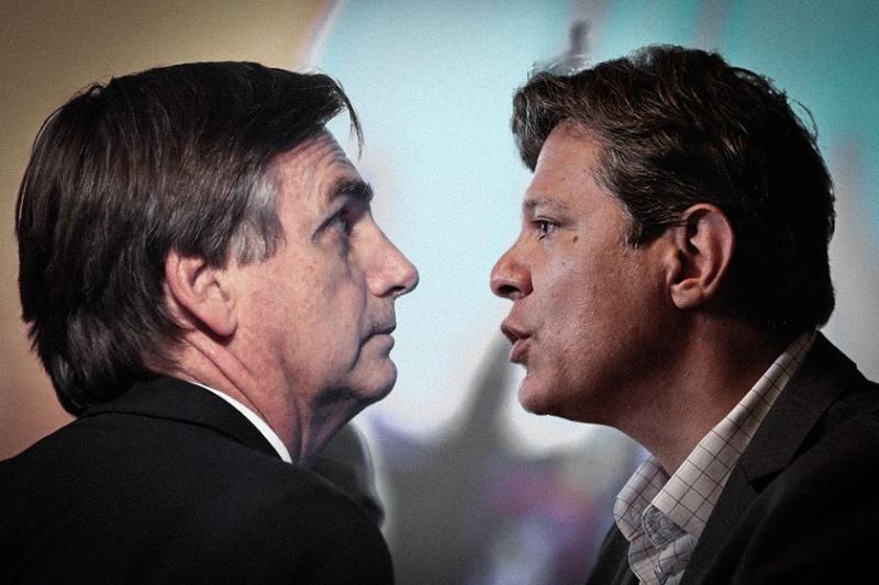Bolsonaro bloqueia perfil de Haddad após discussão no Twitter