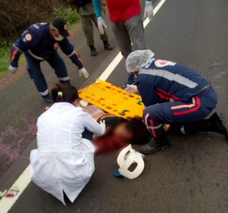 Mulher morre atropelada ao tentar atravessar a BR-316