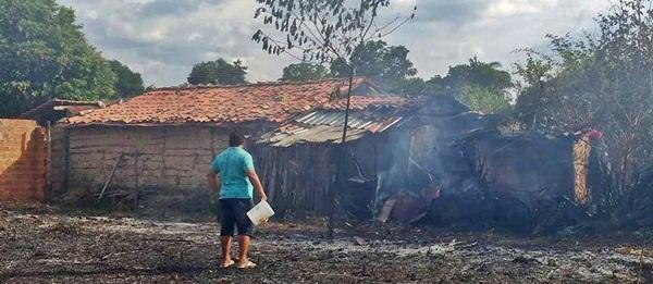 Incêndio atinge residência no interior do Piauí