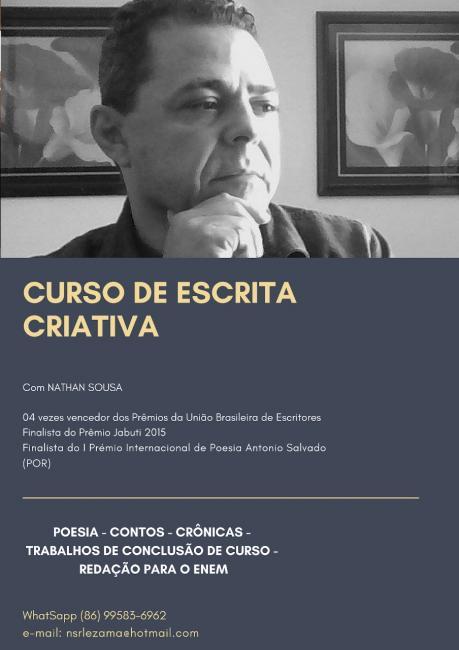 Curso de escrita criativa é lançado pelo escritor Nathan Sousa
