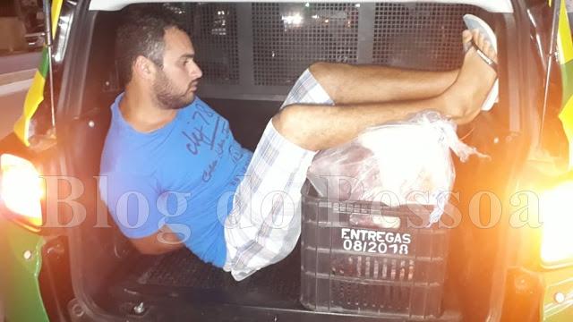 Homem é flagrado tentando furtar carne em supermercado no Piauí