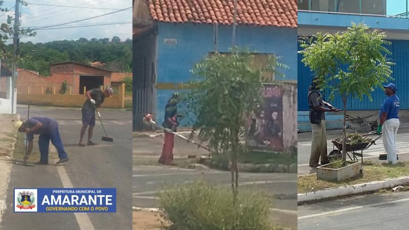 Prefeitura de Amarante redobra atenção com a limpeza da cidade