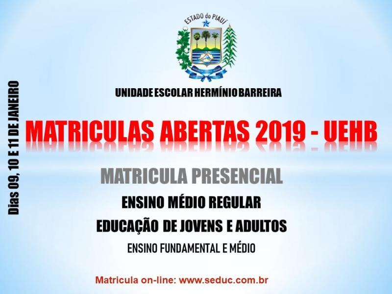 Matrículas da Escola Estadual Herminio Barreira estão abertas