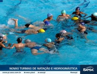 SESC Oeiras abre matrículas para aulas de Natação e Hidroginástica