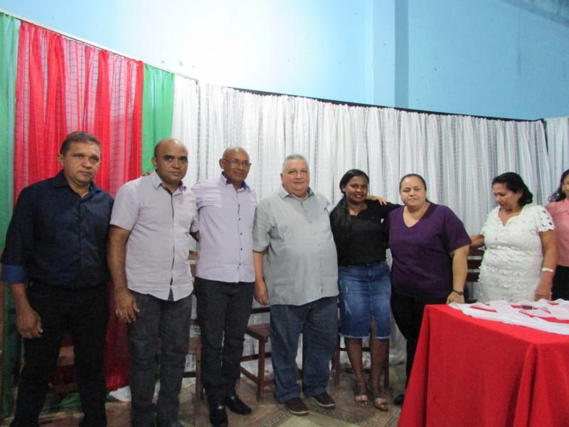 Prefeito Dr. Alcione participa da posse da nova direção do sindicato