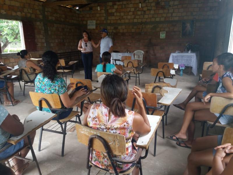 Prefeito e Secretária da SEMEC visitam escolas na zona rural