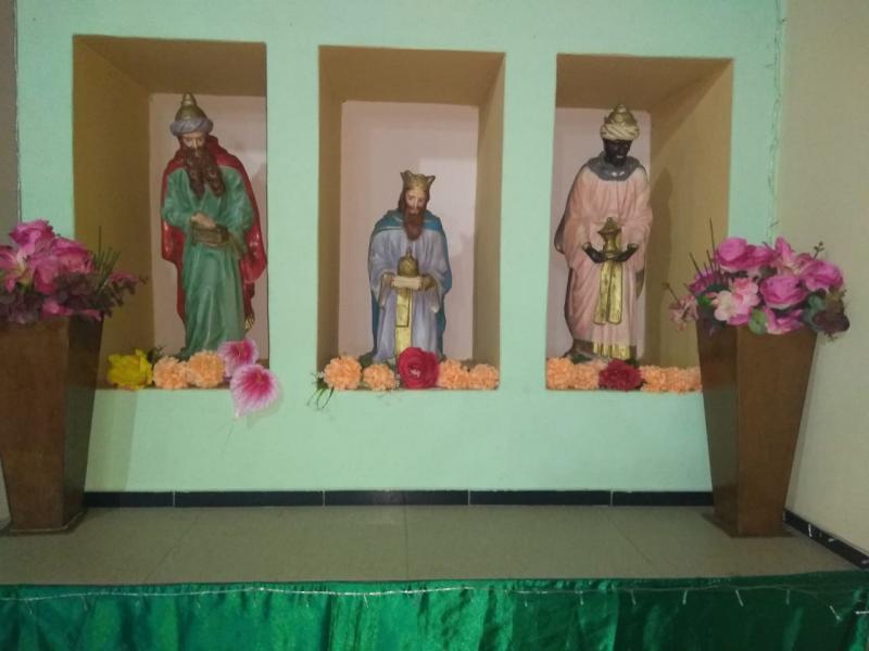 Imagens dos três Reis Magos. Foto: Idalice Carvalho