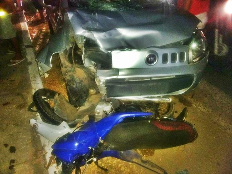 Colisão entre carro e moto deixa uma pessoa morta no Piauí
