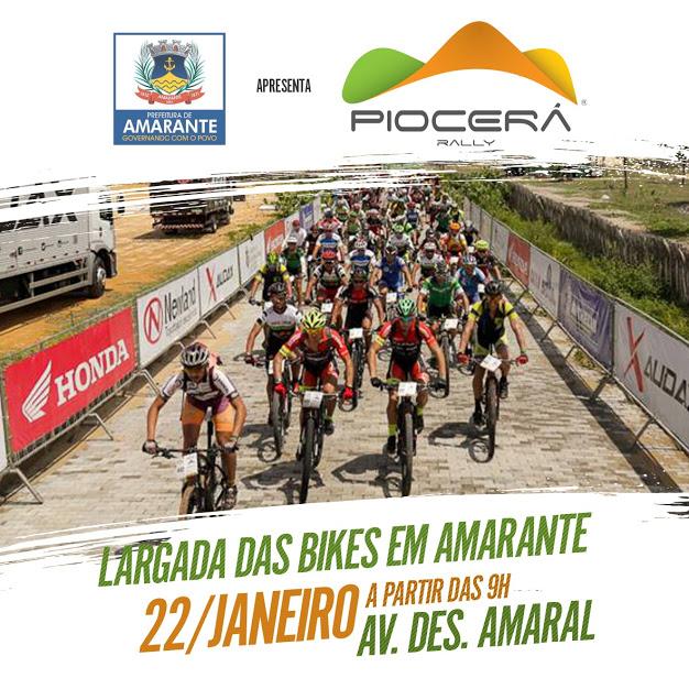 Rally Piocerá Bike 2019 terá largada oficial dia 22 no Centro de Amarante