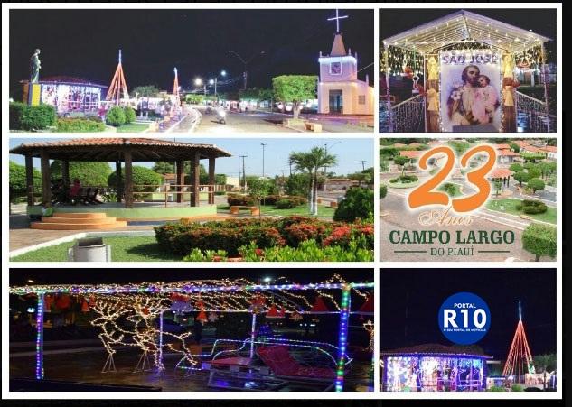 Programação 23° aniversário Campo Largo - PI (Foto Divulgação)