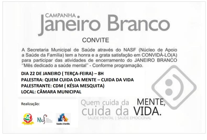 População convidada para evento Janeiro Branco