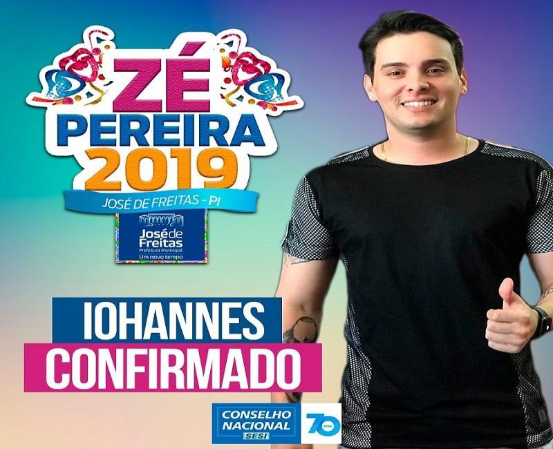 Zé Pereira de José de Freitas tem duas bandas confirmadas