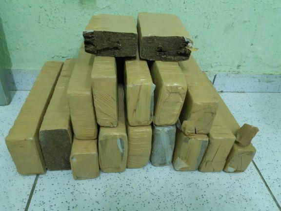 PM encontra grande quantidade de droga dentro de saco no Piauí