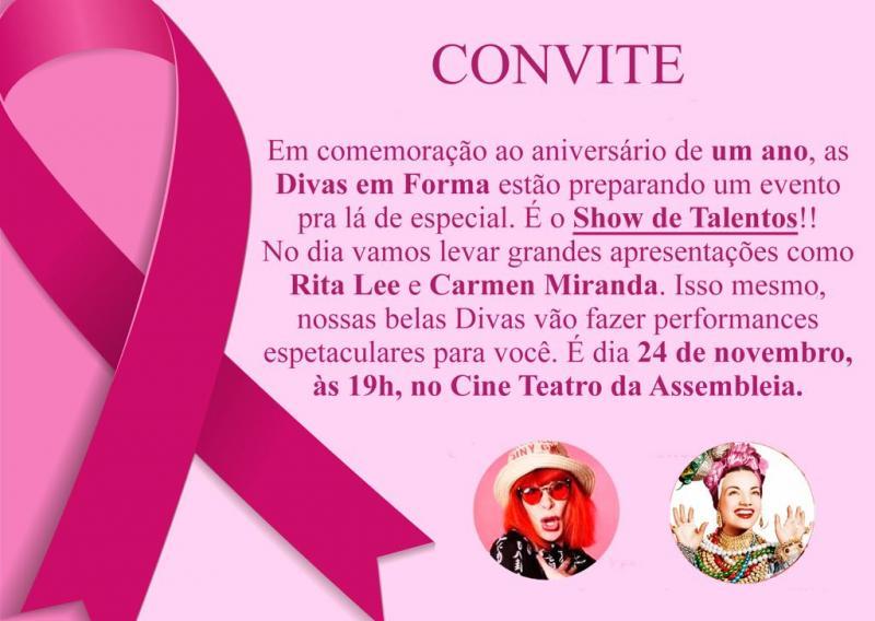 Grupo de mulheres em tratamento oncológico comemora um ano com show de talentos