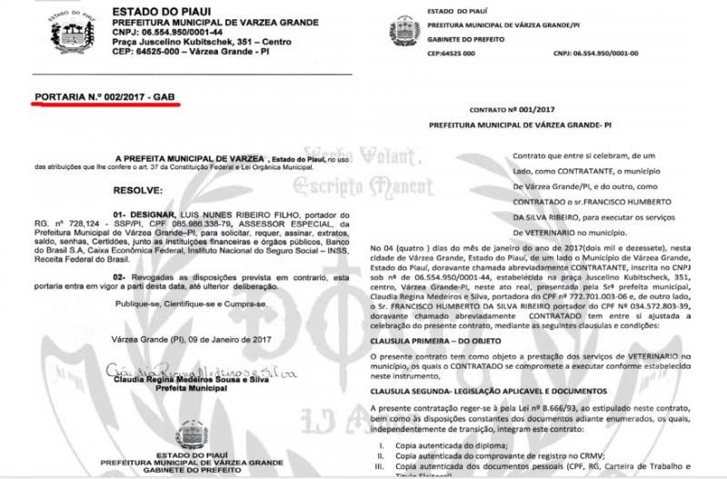 Prefeita de Várzea Grande-PI nomeia marido como prefeito