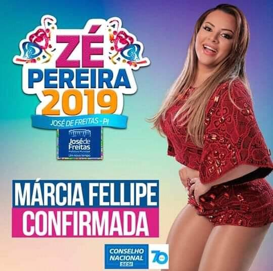 Marcia Felipe é atração confirmada no Ze Pereira de José de Freitas