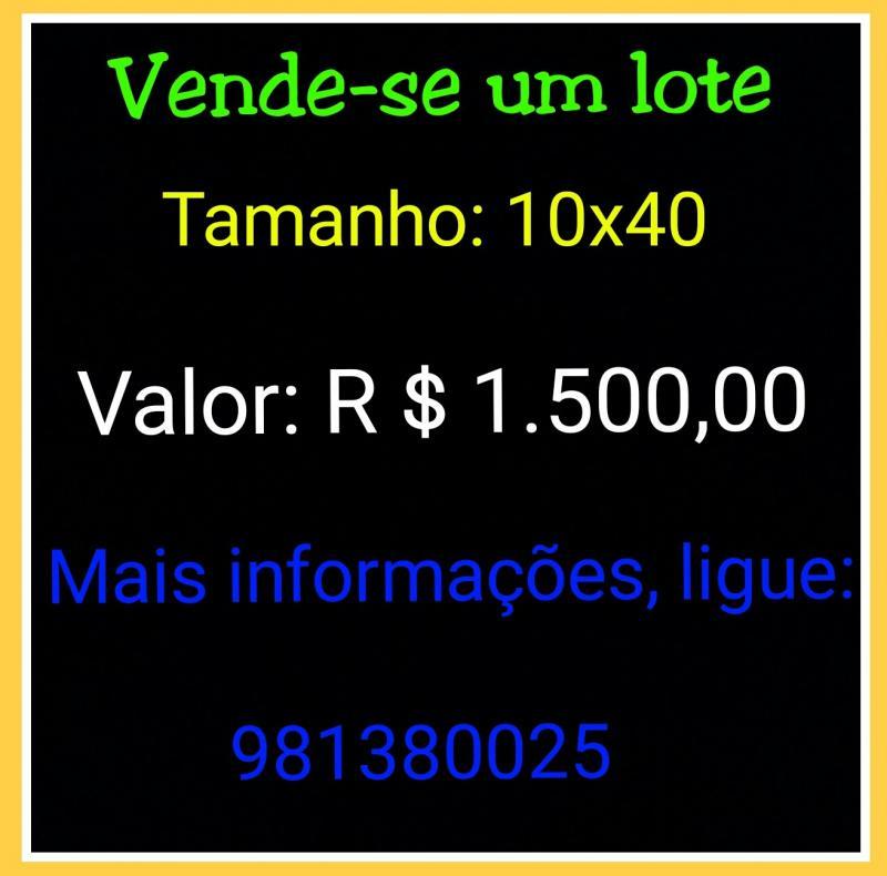 Vende-se um lote em São João do Arraial