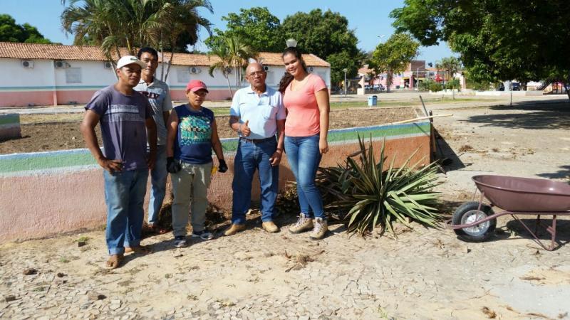 Inicia restauração da Praça Deputado Sebastião Leal em Uruçuí