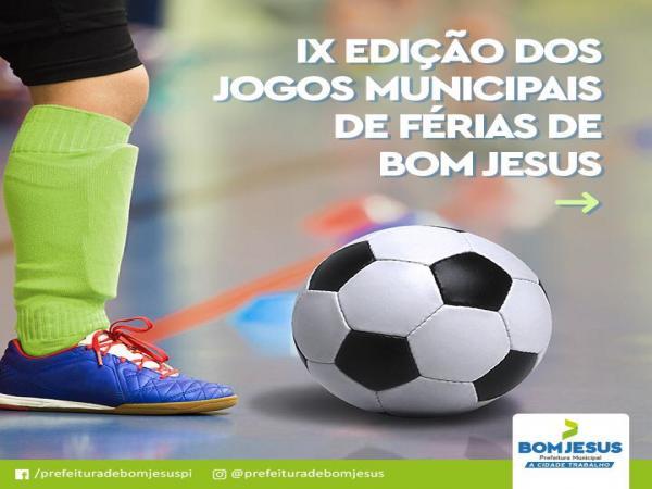 Jogos de férias de Bom Jesus vão até o dia 02 de fevereiro