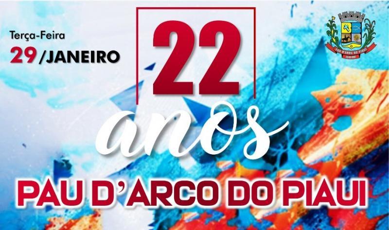 Prefeitura de Pau D'Arco divulga programação do aniversário da cidade