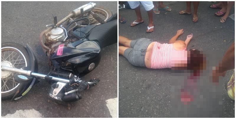 Grave acidente com vítima fatal na avenida Pinheiro Marchado em Parnaíba
