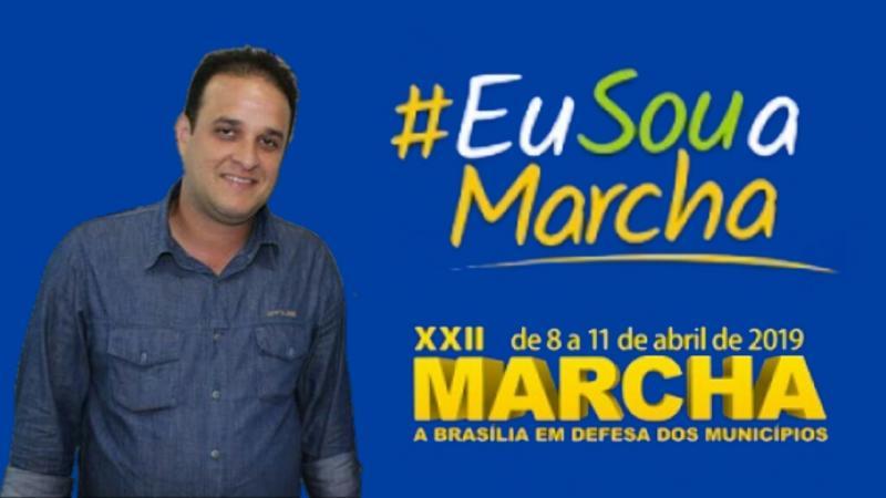 Prefeito irá na XXII Marcha a Brasília em Defesa dos municípios