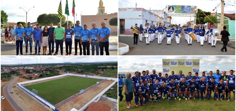 Prefeito inaugura Estádio e participa de jogo entre amigos