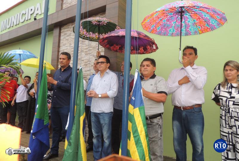 Hasteamento da Bandeira em alusão ao 23° aniversário de Campo Largo-PI