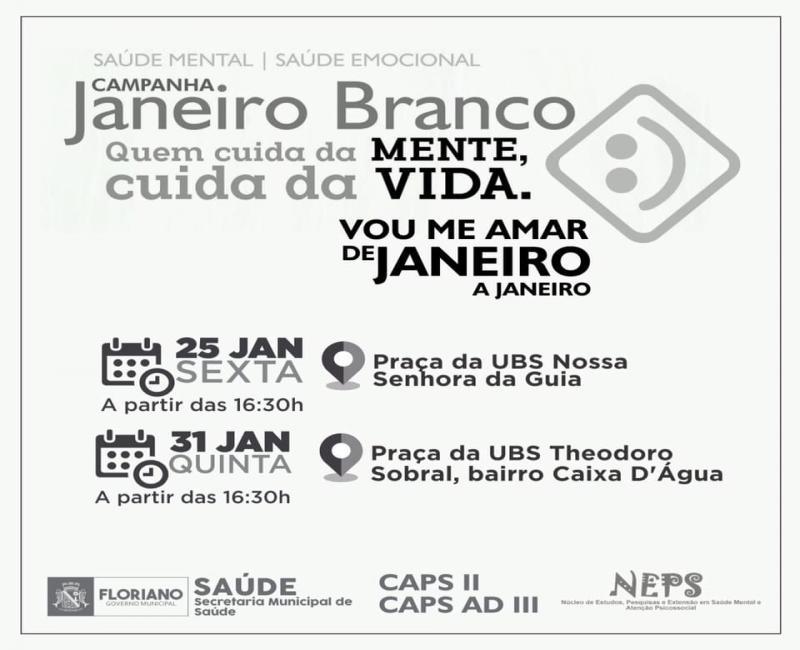 Ação marca atividades do Janeiro Branco