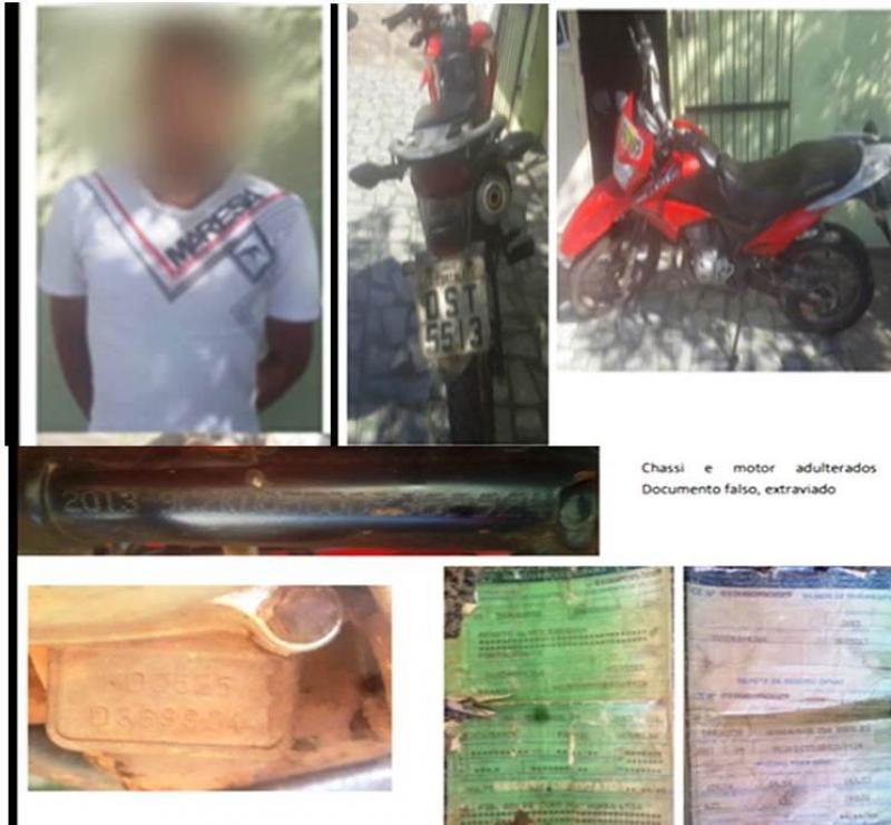 Motocicleta com chassi adulterado é apreendida no Norte do Piauí