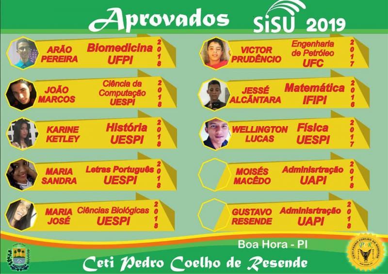 Ceti Pedro Coelho de Resende tem 10 aprovações no SISU