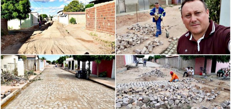 Prefeito Edilson Brito investe recursos do IPTU em pavimentação de ruas