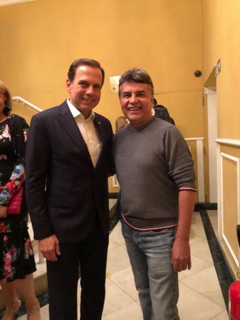 Prefeito de Monsenhor Gil se reúne com o Prefeito de São Paulo João Doria