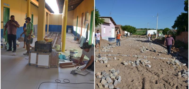 Prefeito Ademar visita obras em andamento em Belém do Piauí
