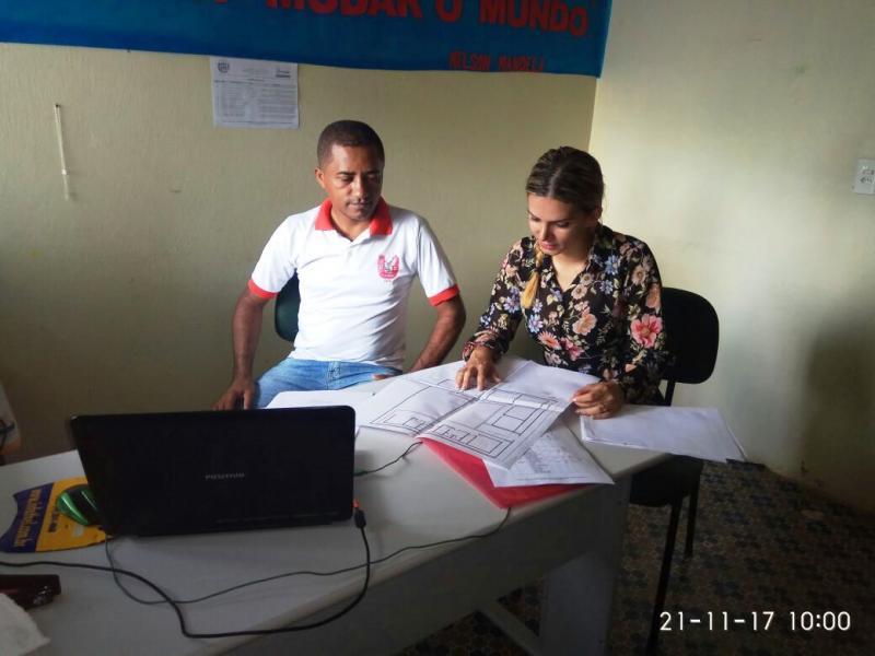 Engenheira apresenta Projeto de Drenagem da Creche Escola Pequeno Príncipe