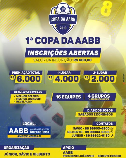 Primeira super Copa da AABB de Futebol Society em Simplício Mendes.