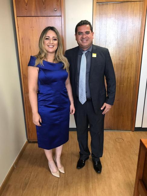 Prefeito Junior Carvalho e Deputada Rejane Dias em Brasília na posse dos eleitos 2018 / Foto: Reprodução