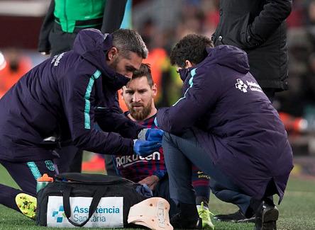 Messi pode ficar de fora de jogo contra Real Madrid