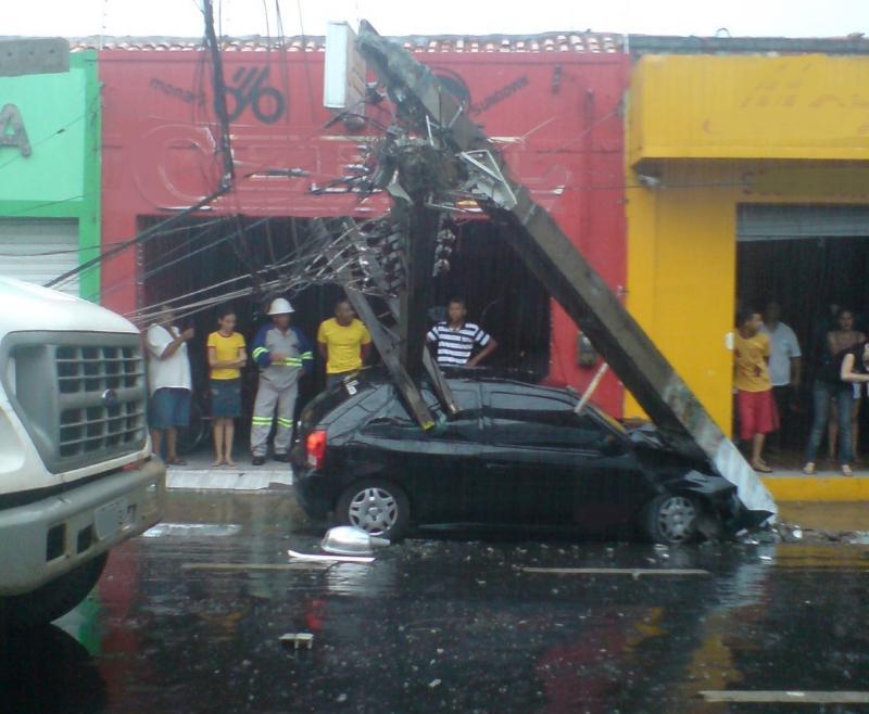 Cresce o número de acidentes com quebra de postes no Maranhão