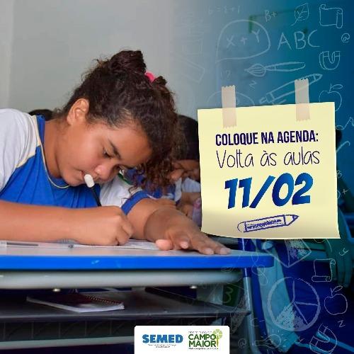 Aulas da rede municipal  de Campo Maior terá início na próxima semana