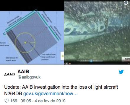 Corpo é encontrado no avião em que estava o jogador Emiliano Sala