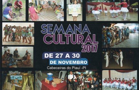 Semana Cultural vai movimentar Cabeceiras entre os dias 27 e 30 de novembro