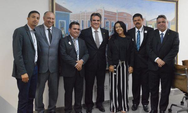 Prefeita Doquinha em Brasília na Mobilização Nacional, visita o gabinete do Senador Ciro Nogueira