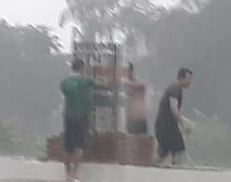 Secretários replantam mudas durante chuva em Campo Largo-PI