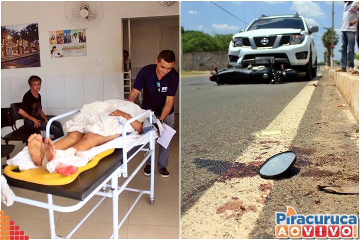 Colisão entre veículos deixa mulher gravemente ferida na BR-343