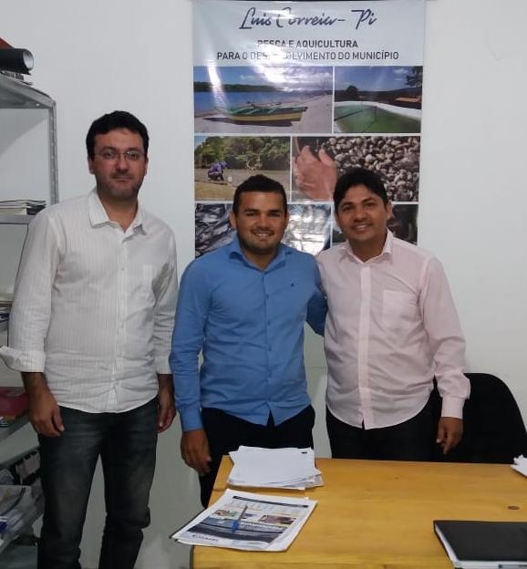 Secretário de Pesca de Luís Correia recebe representantes do SENAR